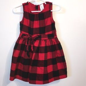 3/$20 Carter's Red/Black Plaid Girl Holiday Dress